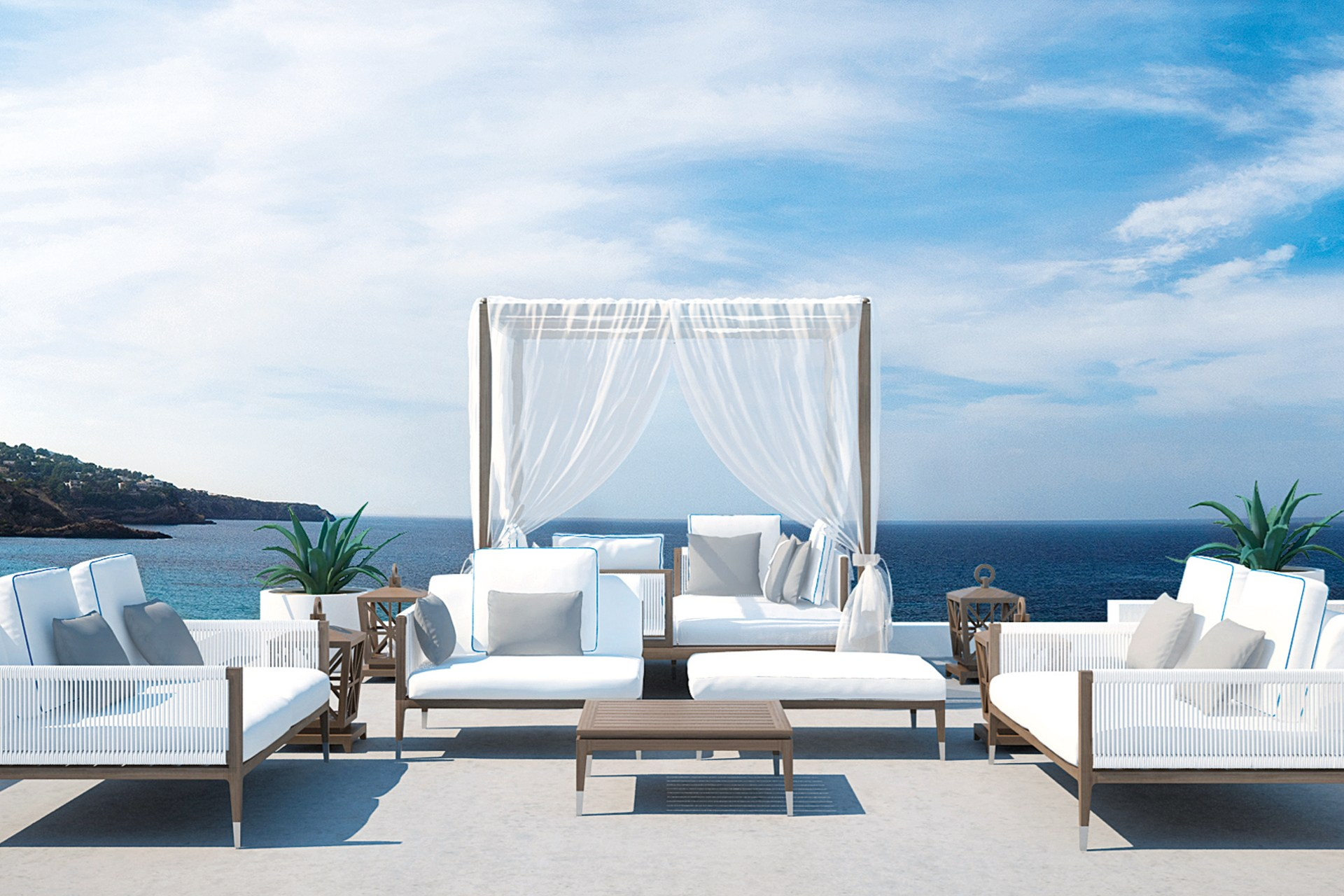ibiza exclusive charter :: Cotton Beach Club Ibiza - first class luxury